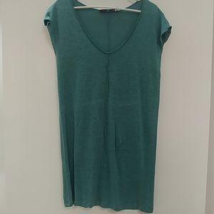 Free People Beach Blue/Green Tunic Shirt